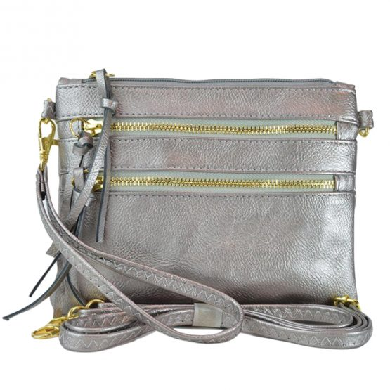 Silver Triple Play Crossbody