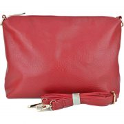 10296 Black Red pouch with crossbody strap