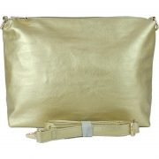 10296 Pewter-Gold pouch with crossbody strap