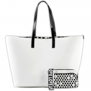 Love Reversible Tote White outside view