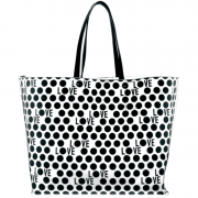 Love Reversible Tote White inside