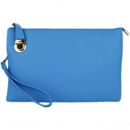 Large Solid Crossbody Sky Blue