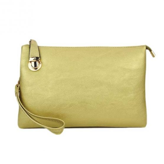 0714-025 Large Crossbody Solid Gold