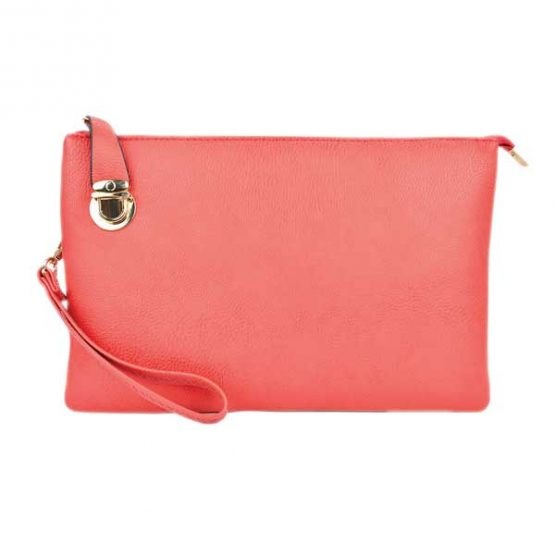 0714-025 Large Crossbody Solid Pink