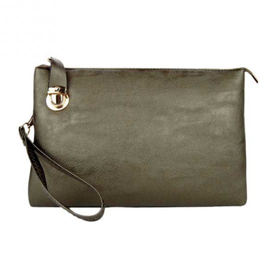 0714-025 Large Crossbody Solid Pewter