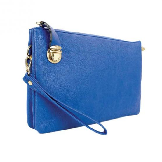 0714-025 Large Crossbody Royal Blue side view