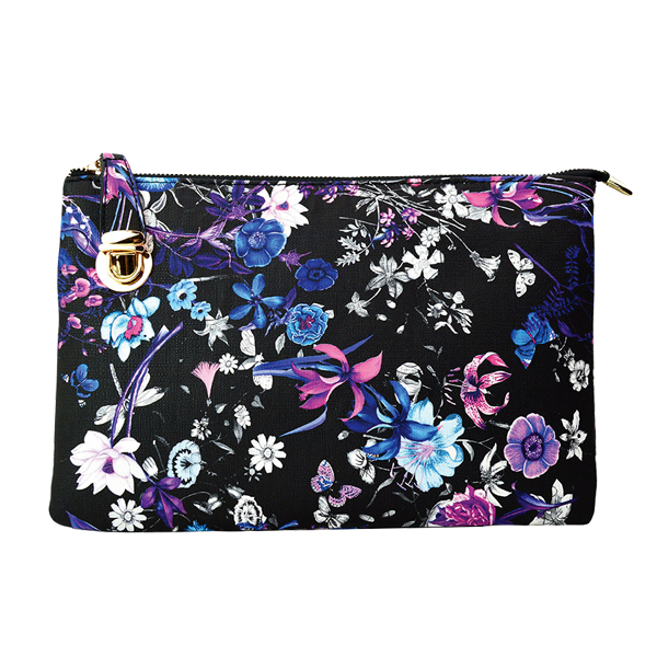 0714-025 Large Print Crossbody #10 Flower