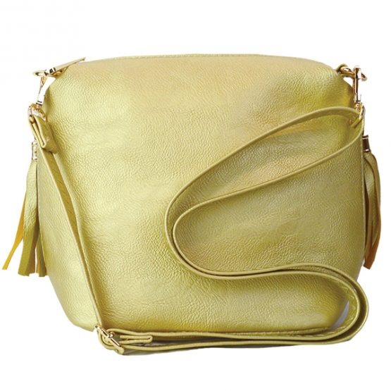 Fringe Crossbody Gold