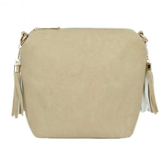 10152-21-024 Fringe Crossbody Light Beige
