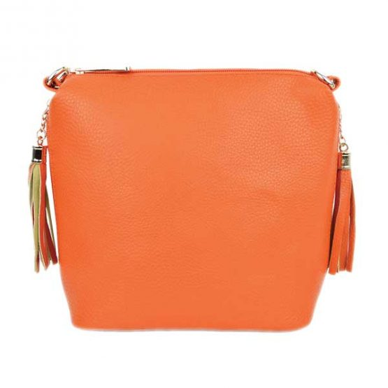 10152-21-024 Fringe Crossbody Orange