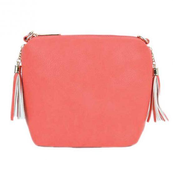 10152-21-024 Fringe Crossbody Pink