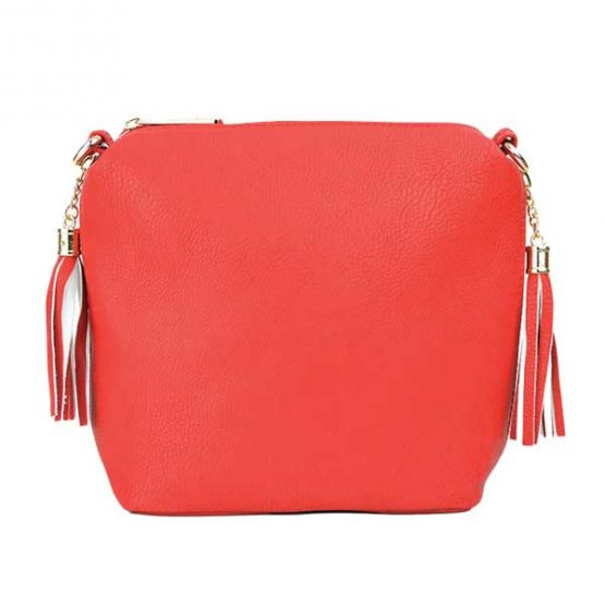 10152-21-024 Fringe Crossbody Red