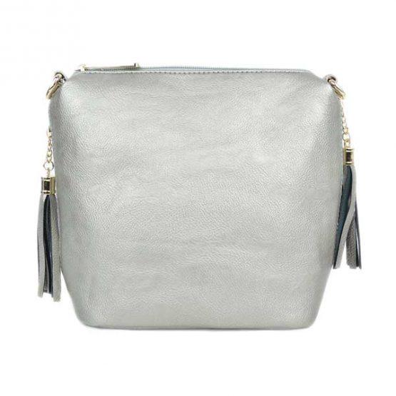 10152-21-025 Fringe Crossbody Silver