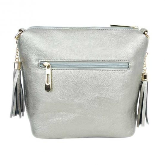 10152-21-024 Fringe Crossbody Silver back view