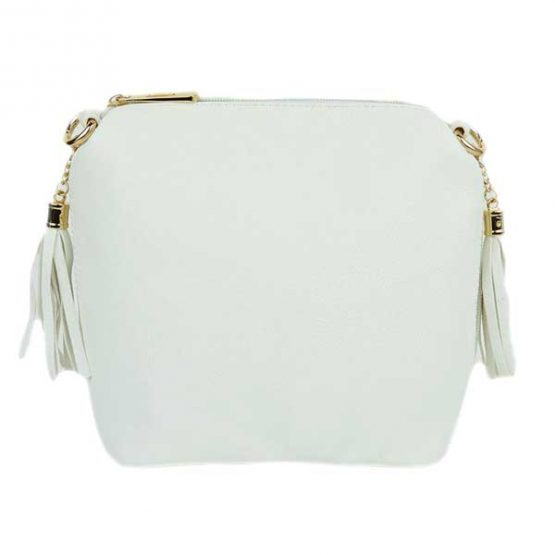 10152-21-024 Fringe Crossbody White