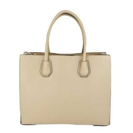 Light Beige Structured Tote front view