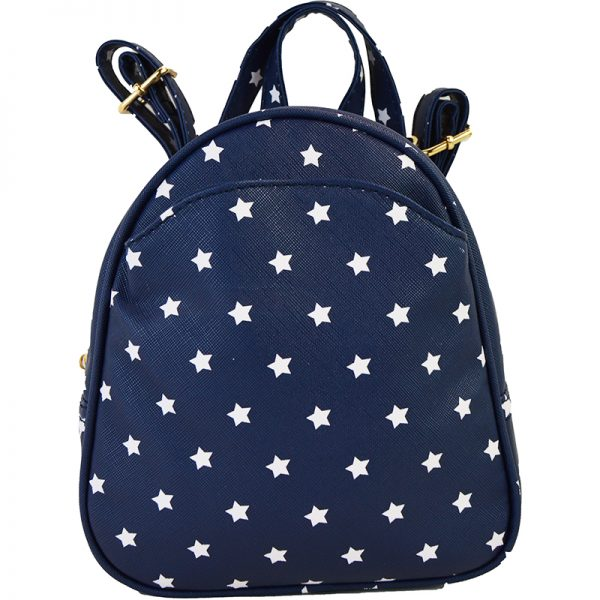 10505-024Star Print Crossbody Backpack