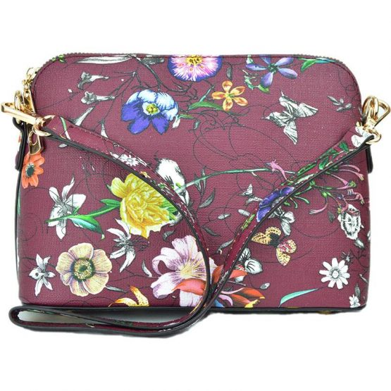 A10119-024 Structured Crossbody #12 Flower