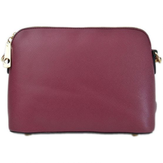 A10119-024 Structured Crossbody Burgundy