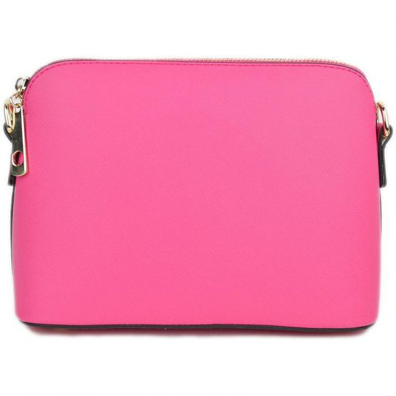 A10119-024 Structured Crossbody Fuchsia