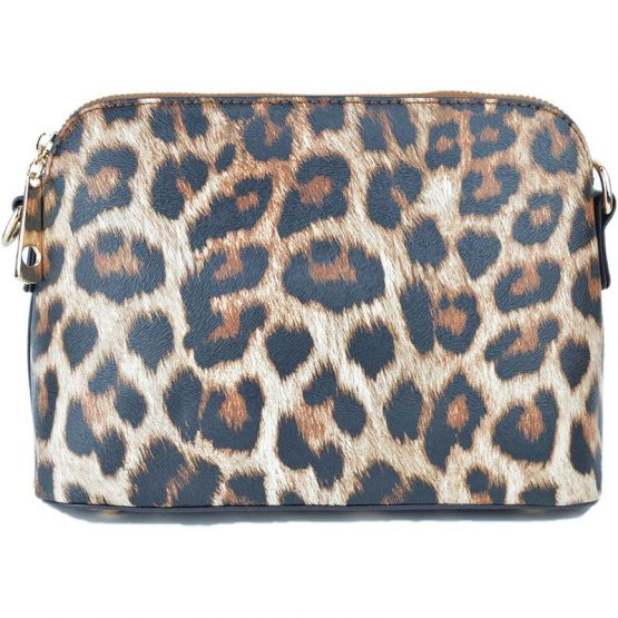 A10119-024 Structured Crossbody Leopard Print