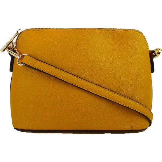 A10119-024 Structured Crossbody Mustard Yellow