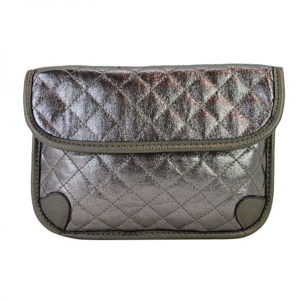 60223-022 Quilted Fanny Pack Pewter