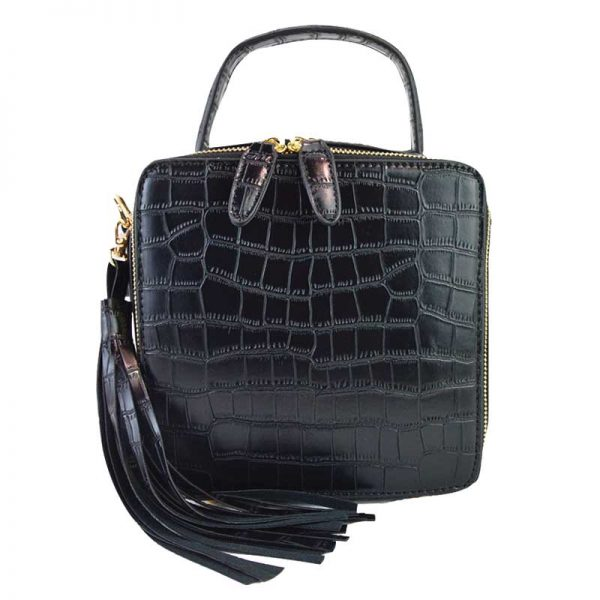90526-028 Crocodile Crossbody Black