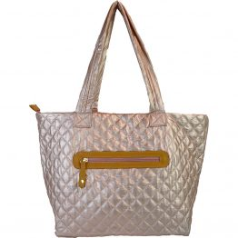 10605-034 Quilted Tote Blush back view