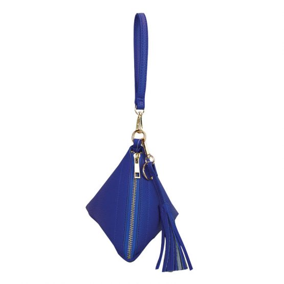 7092-014 Triangle Wristlet Royal Blue view 4