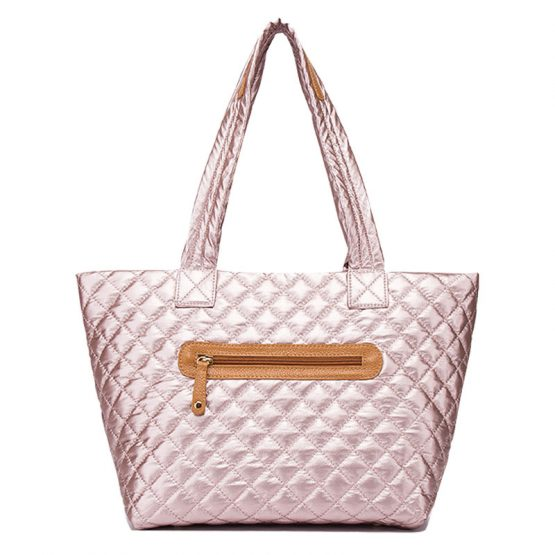 10605-034 Quilted Tote Metallic Rose Gold3