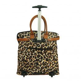 Leopard-059 Rolling Tote back