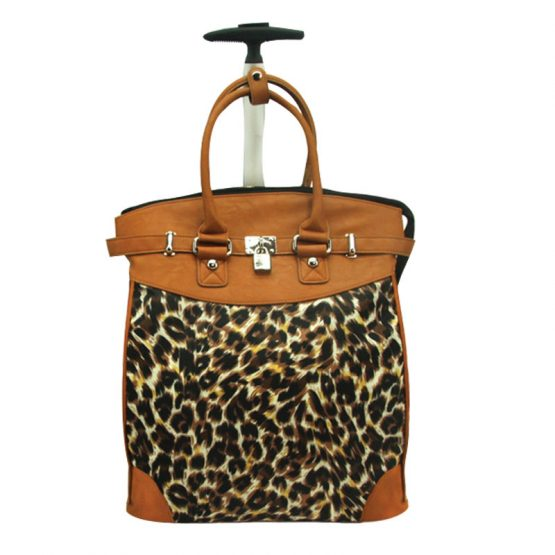Leopard-059 Rolling Tote front