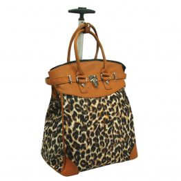 Leopard-059 Rolling Tote