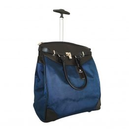 SOLID-059 Navy Rolling Tote