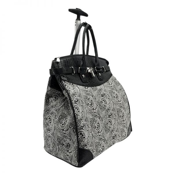 Paisley-059 Rolling Tote