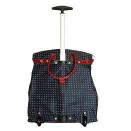 Polka-Dot-059 Rolling Tote Bag Back