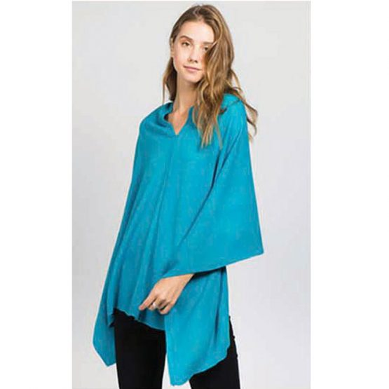 Poncho PA-8672-024 Turquoise