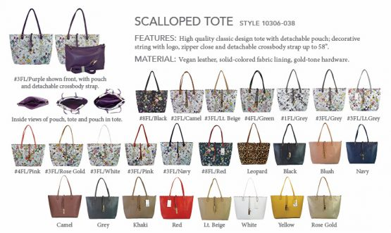 10306-038 Scalloped Tote